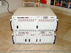 2 Spirent Netcom #Smartbits SMB-2000 LAN WAN RF Test Units Smart Cards #FREESHIPPING #SpirentNetcom