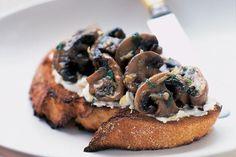 Mushrooms with ricotta on sourdough