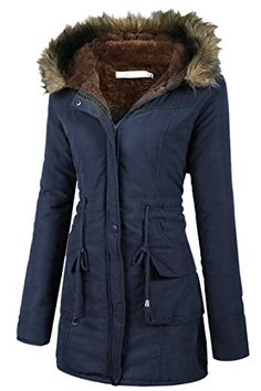 d4607b5236 Billti Winter Parka Coat Fleece Lined parkas With Front Pocket For Women **  You can