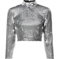 A.L.C. cropped sequin top (€275) ❤ liked on Polyvore featuring tops, unavailable, sequin embellished top, cropped tops, cut-out crop tops, a.l.c top and sequin crop top