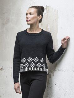 Naisen kirjoneulepusero Novita 7 Veljestä | Novita knits