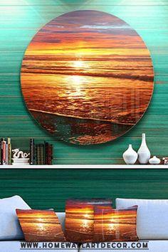 Ocean Pirate Ship Sunset Caribbean Island Canvas Modern Wall Art Home Decor 5 PC