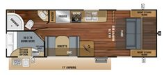 Learn more about the Jayco Jay Feather for sale at Camping World—the nation's largest RV & camper dealer. Camping World Stock# 1488049 Jayco Travel Trailers, Huber Heights, Rv Floor Plans, Lightweight Travel Trailers, Jay Feather, Cedar Falls, Cool Campers, Camping World, Bunk Beds