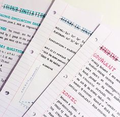 Cute Notes//Pink//Blue
