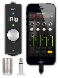 iRig PRO. For iPhone, iPad and Mac - all-in-one audio/MIDI interface. Use to connect either a MIDI keyboard or guitar or microphone
