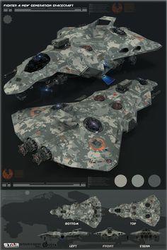 ArtStation - Concept spaceship for game STAR CONFLICT, Oshanin Dmitriy