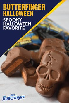 Give the neighborhood trick-or-treaters something extra special this Halloween with these BUTTERFINGER® Peanut Butter Cups Skulls. This fun fall candy has all of the crispety, crunchety, peanut-buttery taste that you love in one spooky, skull-shaped package. Click here to get yours today.