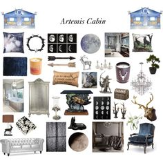 Artemis Cabin by fandoms-have-eaten-my-soul on Polyvore featuring interior, interiors, interior design, home, home decor, interior decorating, Zuo, BD Fine, nanimarquina and Anorak