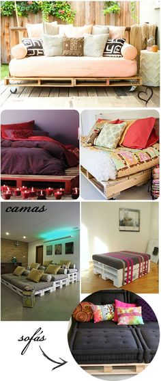 The one right below the purple, on smaller scale for a bed for my girls. Palette Deco, Diy Home Decor, Room Decor, Diy Casa, Diy Décoration, Pallet Furniture, My Room, Home Projects, Pallet Projects