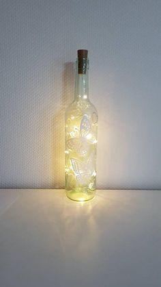 Light Chain, Shops, Bottle Lights, Zen, Etsy Shop, Hand Painted, Glass, Decor, Bricolage