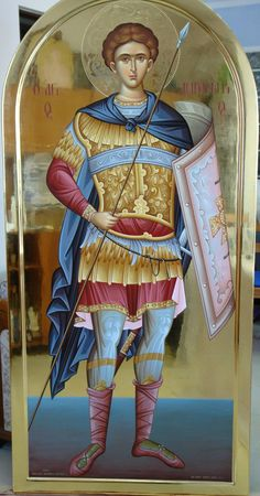 Saint Demetrius of Thessaloniki Religious Icons, Religious Art, Good Shepard, Orthodox Catholic, Greek Icons, Angel Warrior, Byzantine Icons, Archangel Michael, Art Icon