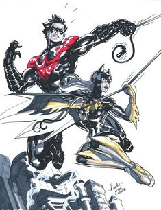 Batgirl and Nightwing - Carlos D'Anda