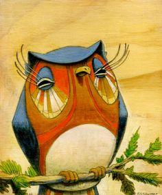 'Orange Owl' by Brett Superstar