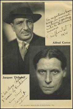 Schubertiade :: Thibaud, Jacques. (1880-1953) & Cortot, Alfred. (1877-1962)