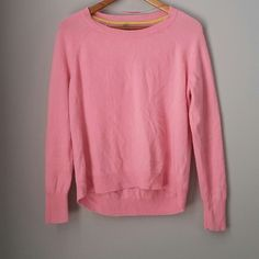 Pink 100% cashmere sweater nwot New never worn! So #cozy and cute! Perfect for layer with a buttondown.  Bundle for best deals!! Hundreds of items available for discounted bundles- items starting as low as $5! You can get lots of items for a low price and one shipping fee!  Follow on IG: @closethslmr Apt. 9 Sweaters Crew & Scoop Necks