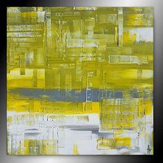 Tableau abstrait peinture contemporain moderne - Peinture,  80x80x4,5 cm ©2017 par Sandrine Hartmann -                            Art abstrait, carré, peinture, art, france, fait main, unique, moderne, original