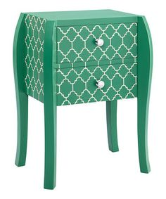 Love this Green Quatrefoil Bombe End Table by JLA Home on #zulily! #zulilyfinds