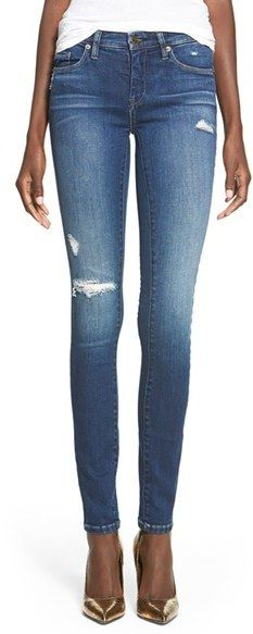 Please click on the picture to go to the detail page. BLANKNYC 'Hotel' Distressed Skinny Jeans (Blue)