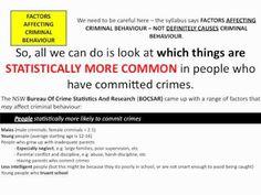 ▶ HSC Legal Studies - Factors affecting criminal behaviour - YouTube Target Audience, Factors, Research, Definitions, Behavior, Crime, Classroom, Study, App