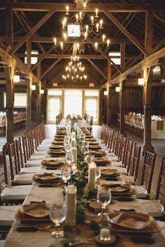 Quonquont Farm | Wedding Barn | Apple Orchard | farm tables | quonquont.com |Photo by Lauren Halvorson Photography
