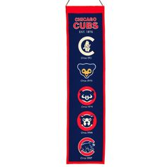 Amazon.com : MLB Chicago Cubs Heritage Banner : Wall Banners : Sports & Outdoors