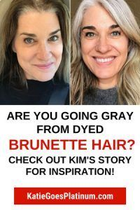 This Popular Gray Hair Transition Story Will Inspire You - Going Gray Hair 2020 Grey Hair Dye, Long Gray Hair, Silver Grey Hair, Dye My Hair, Carmel Hair, Grey Hair Transformation, Hair Mascara, Grey Hair Inspiration, Gray Hair Growing Out