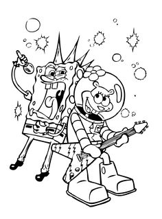 coloring pages spongebob halloween full | SpongeBob DVD: Ghouls Fools | Coloring, Haunted houses and ...