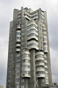 Apartment building in Bishkek, Kyrgyzstan. #socialist #brutalism #architecture