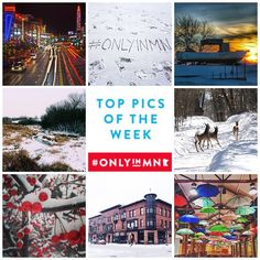 We are thankful for our amazing and talented followers! We love seeing your @instagram photos that highlight the beauty of our great state! Here's a few of our favorite #OnlyinMN pics this week. Clockwise from top left: @charlieworden @wanderthemap @cmarshall527 @maryjohoffman @robena23 @beccaherickson @jules708 @minnewake
