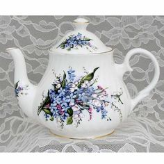 Forget Me Not Fine Bone China - 6 Cup Teapot