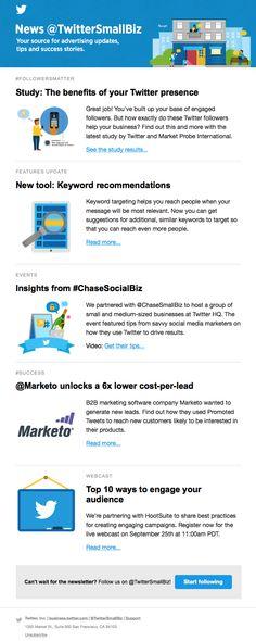 small business twitter newsletter