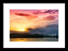 Beautiful Sunset Framed Print By Charuhas Images