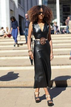 Street Style: Tougher than Leather: Trend Alert: Ladies in Leather: Page 15 : Essence.com
