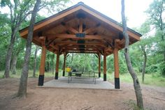 Worth Ranch Boy Scout Camp -- PeeWee Walker Shelter in Bowie Campsite.