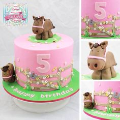 Sweet little girls horse cake