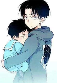 Levi and Baby Eren
