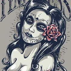 Create a Tattoo Style, Grunge, Day of Dead Girl Poster in Illustrator — Tuts