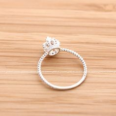 sterling silver, tiny CROWN ring with crystals. I love❤ this.