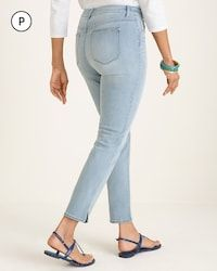 63eaca35de8 Petite Side-Slit Girlfriend Ankle Jeans thumbnail image