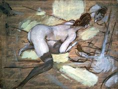 "isobelgowdie:  ""Donna nuda sdraiata su cuscini gialli""- Giovanni Boldini"