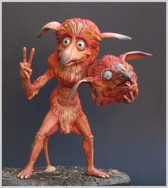 labyrinth firey sculpture clay fireys by yotaro-sculpts on DeviantArt