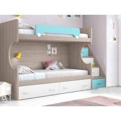 House Furniture Design, Kids Bedroom Furniture, Home Decor Furniture, Bunk Bed Rooms, Kids Bunk Beds, Bunk Beds With Storage, Bed Storage, Bed For Girls Room, Girls Bedroom