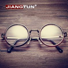 468773becf6 Women Men Big Round Glasses Frames Newest Purely Handmade Vintage Optical  Eye Frame Plain Glass Fashion Oculos