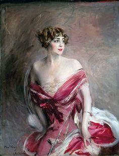 """ecco uno dei più famosi ritratti """" Chic """" e alla moda di Giovanni Boldini"""