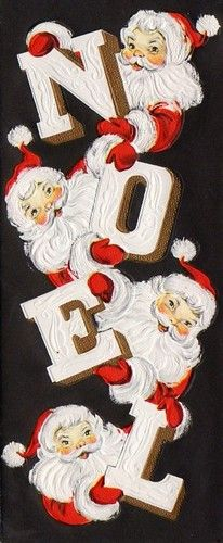 .Grandmother had a sign that spelled noel, love this one as well