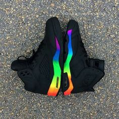 Unbelievable Ideas Can Change Your Life: Shoes Hipster Indie jordan shoes running.Converse Shoes With Rhinestones. Moda Sneakers, Cute Sneakers, Shoes Sneakers, Adidas Shoes, Rainbow Sneakers, Air Jordan Sneakers, Converse Shoes, Lit Shoes, Women's Shoes