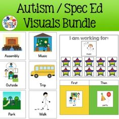 This is a bundle of visual resources from my store that will be great additions to your classroom, and to help support and motivate your students with Special Needs / ASD / Autism. Each resources comes with instructions so you are able to implement them and use them in the best possible way in your classroom!