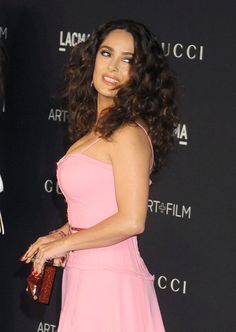 Pin for Later: See Every Angle of Salma Hayek's Pink Dress at the LACMA Gala