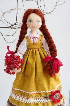 Купить Кукла интерьерная Машенька, текстильная кукла, коллекционная кукла - тильда кукла