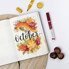 15 Cozy Bullet Journal Layouts Perfect For Fall - Bullet Planner Ideas - - Bullet journal layout and spread ideas that will get you in the mood for Fall. All the bright color and cozy inspiration you ever dreamed for! Bullet Journal Period Tracker, Bullet Journal Monthly Spread, Bullet Journal Cover Page, Bullet Journal Hacks, Bullet Journal Ideas Pages, Bullet Journal Layout, Journal Covers, Bullet Journal Inspiration, Autumn Bullet Journal